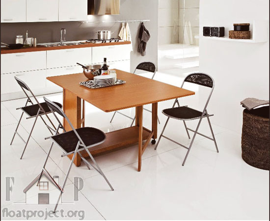 Rectangular folding dining table