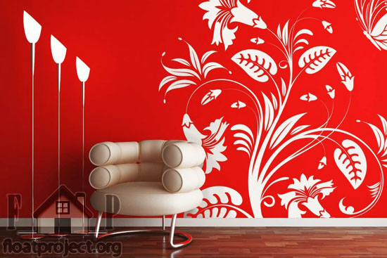 Floral themed interior decoration