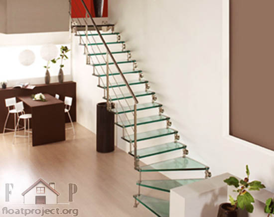 Glass staircases for contemporary homes