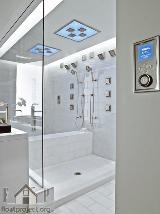 hi-tech shower enclosure