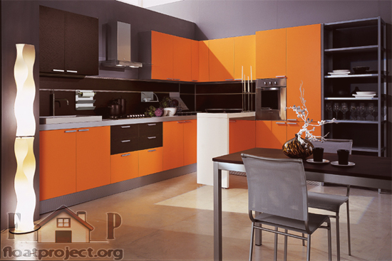 Interior design in orange