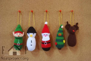 knitted ornaments