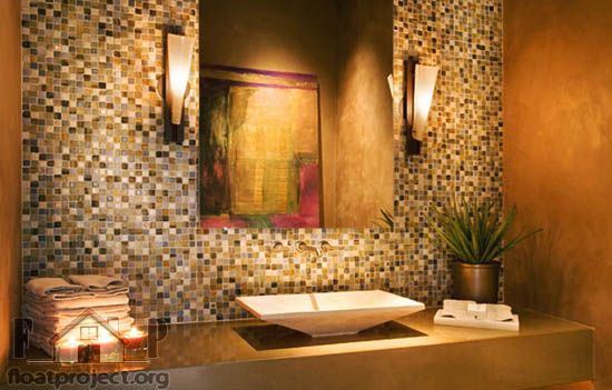 Decorative Masonry Is Another Way To Add An Interesting Accent Your Bathroom Walls Dark Will Make Look Really Classy