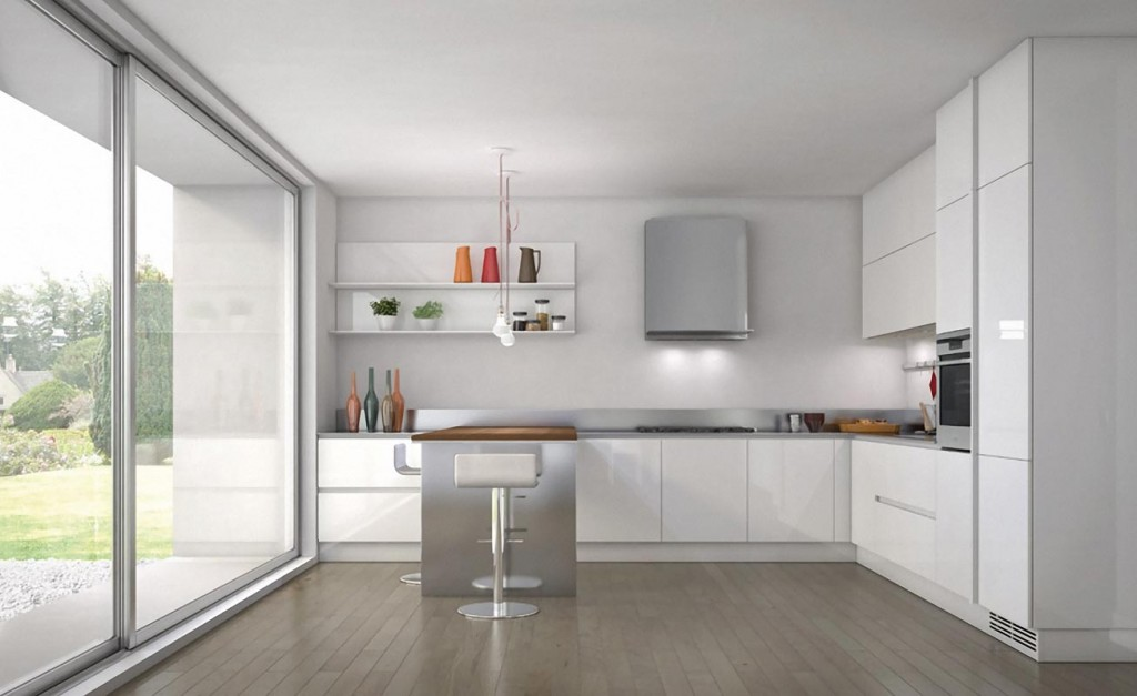 Small Modern Kitchen In White Home Designs Project