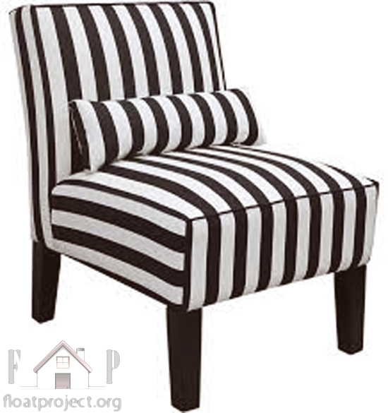 Beautiful striped furniture for your living room home for Striped chairs living room
