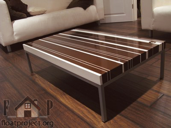 striped coffee table