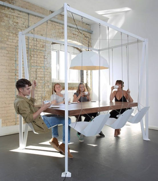 suspended dining table
