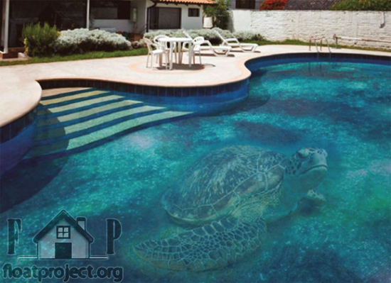turtle swimming pool