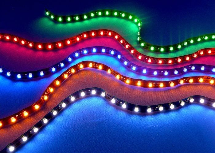 Light your porch with LED strip lights