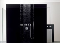black shower enclosure