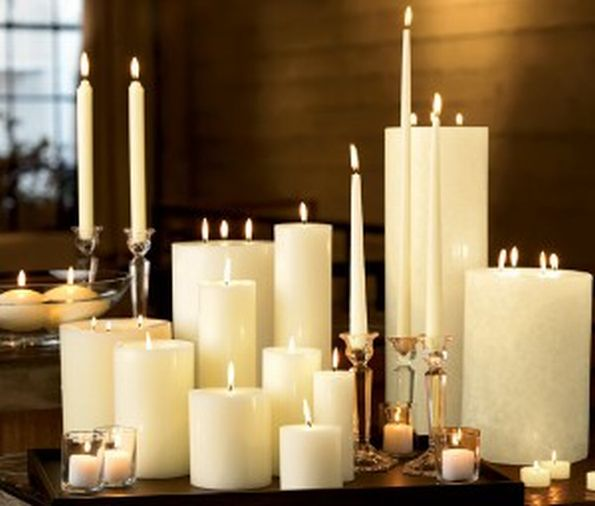Interior decoration ideas with candles