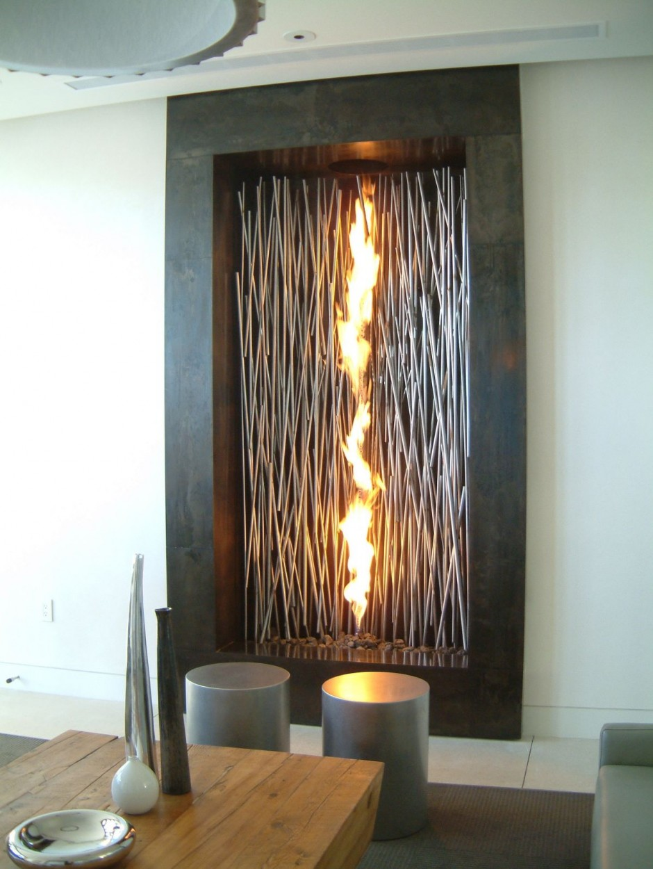 Modern decorative fireplaces