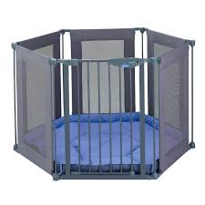 fabric-sided playpen