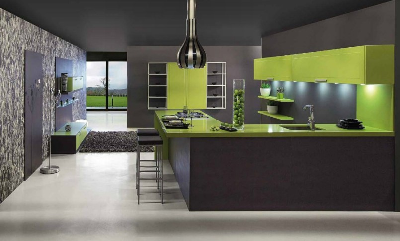 Modern Kitchen Interior Design In Green Home Designs Project