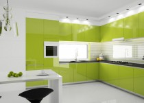green kitchen furniture