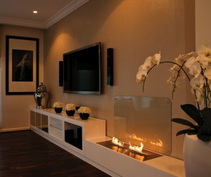 modern decorative fireplace