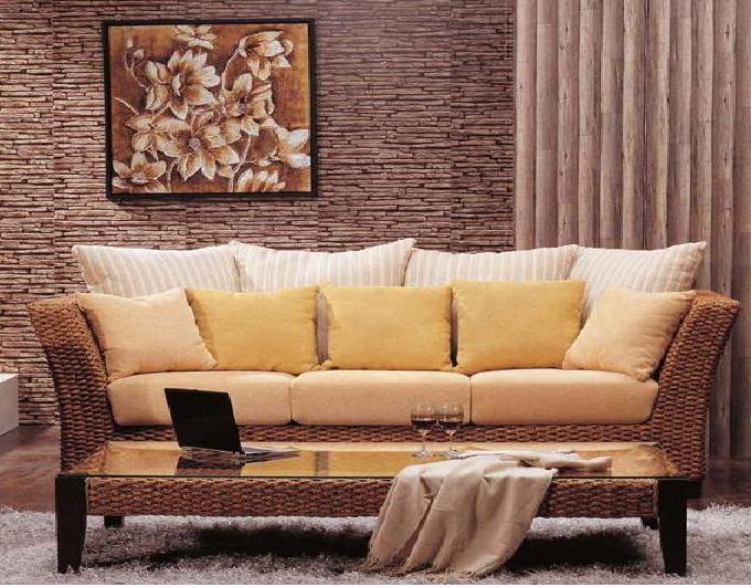 Rattan living room design ideas