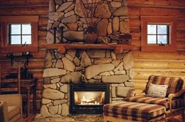 Decorate your fireplace with stones
