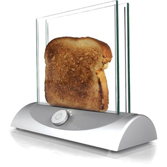 see-through toaster