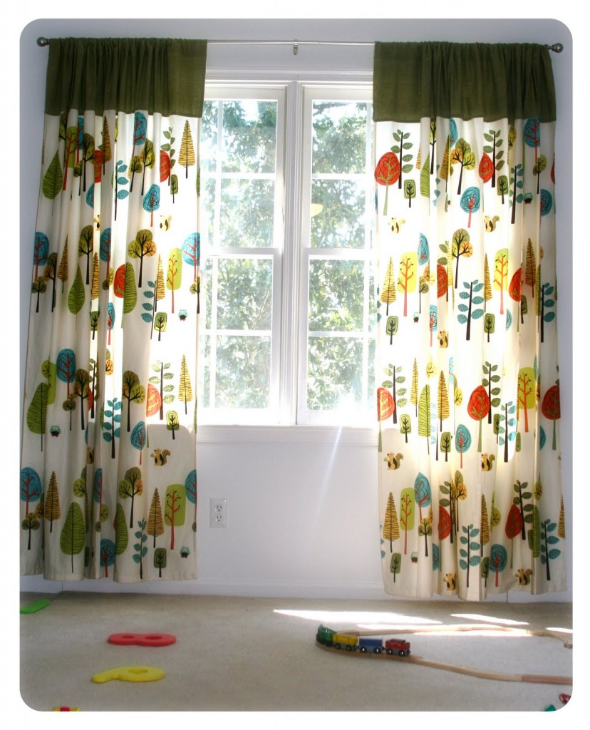 Colorful Playroom Design: Fun, Colorful Curtains For A Kids' Playroom