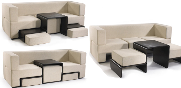 Five unusual ideas for modular living room furniture for Modular living space