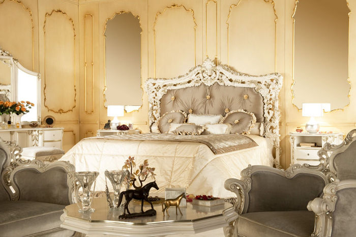 Modern Baroque Bedroom Interior Home Designs Project