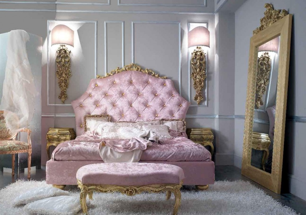 Modern baroque bedroom interior home designs project for French baroque bed