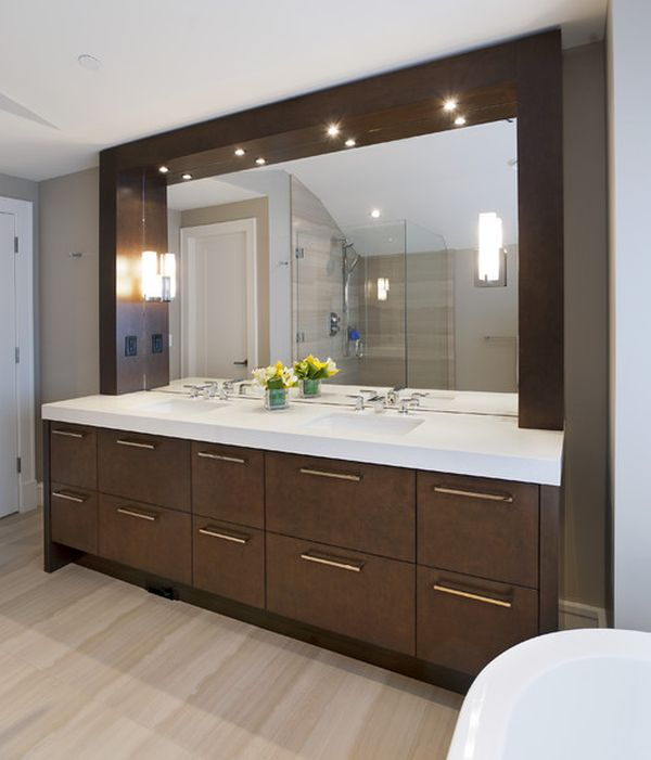 Matching Vanity Light And Mirror : Modern Bathroom Vanity Lighting Home Designs Project
