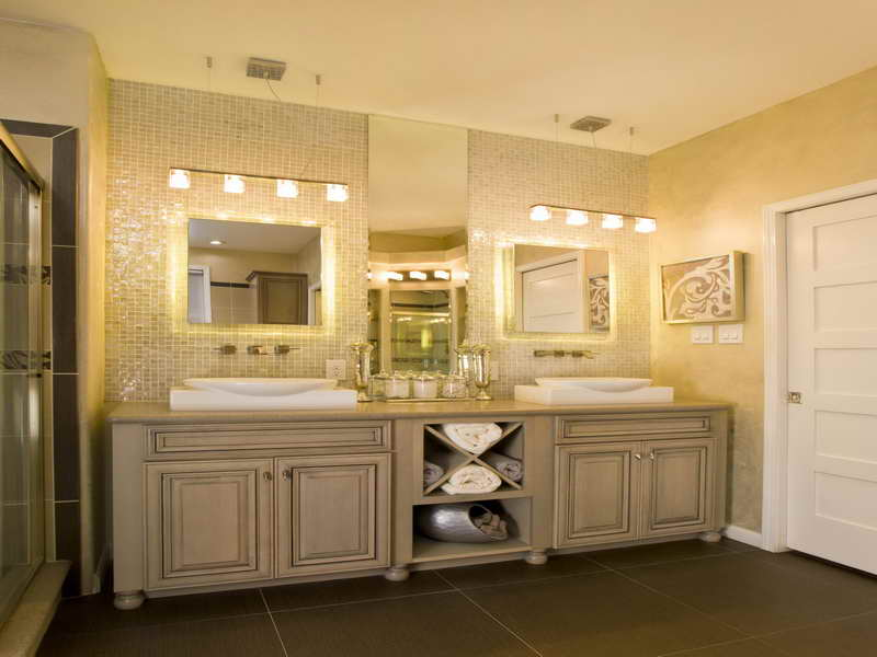 Large Contemporary Modern Bathroom Mirror With Lighting LONG HAIRSTYLES